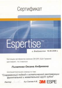 Сертификат о посещении семинара